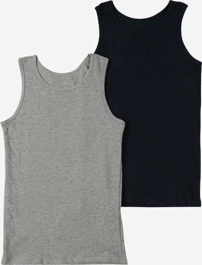 NAME IT Unterhemd 'TANK' in graumeliert / schwarz, Produktansicht