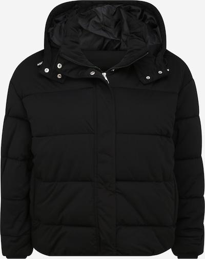 Urban Classics Curvy Steppjacke 'Ladies Boyfriend Puffer Jacket' in schwarz, Produktansicht