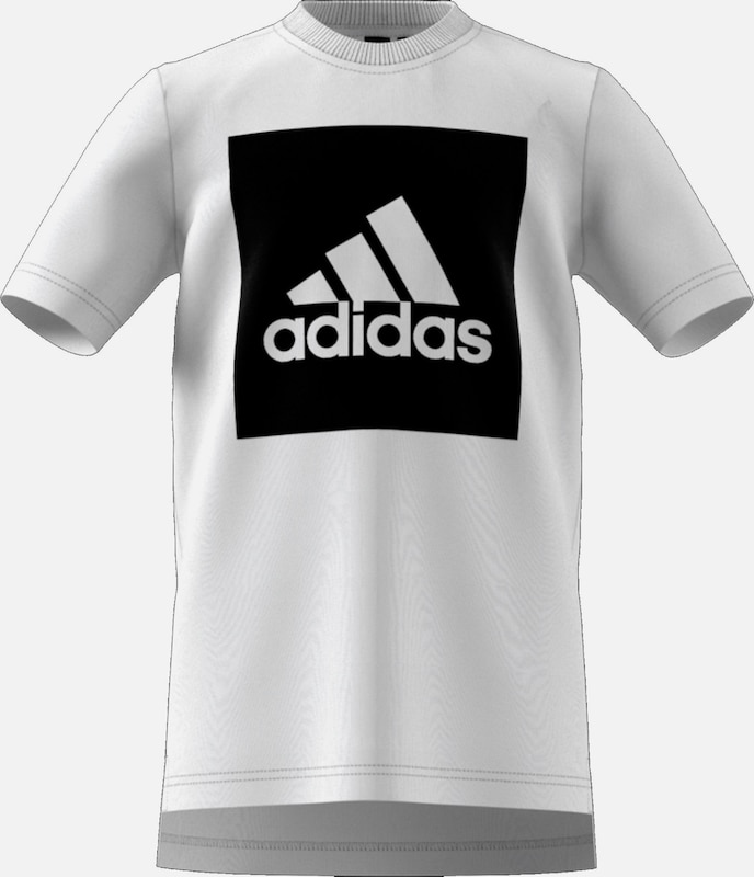 ADIDAS PERFORMANCE 'Essentials' T-Shirt in schwarz / weiß, Produktansicht