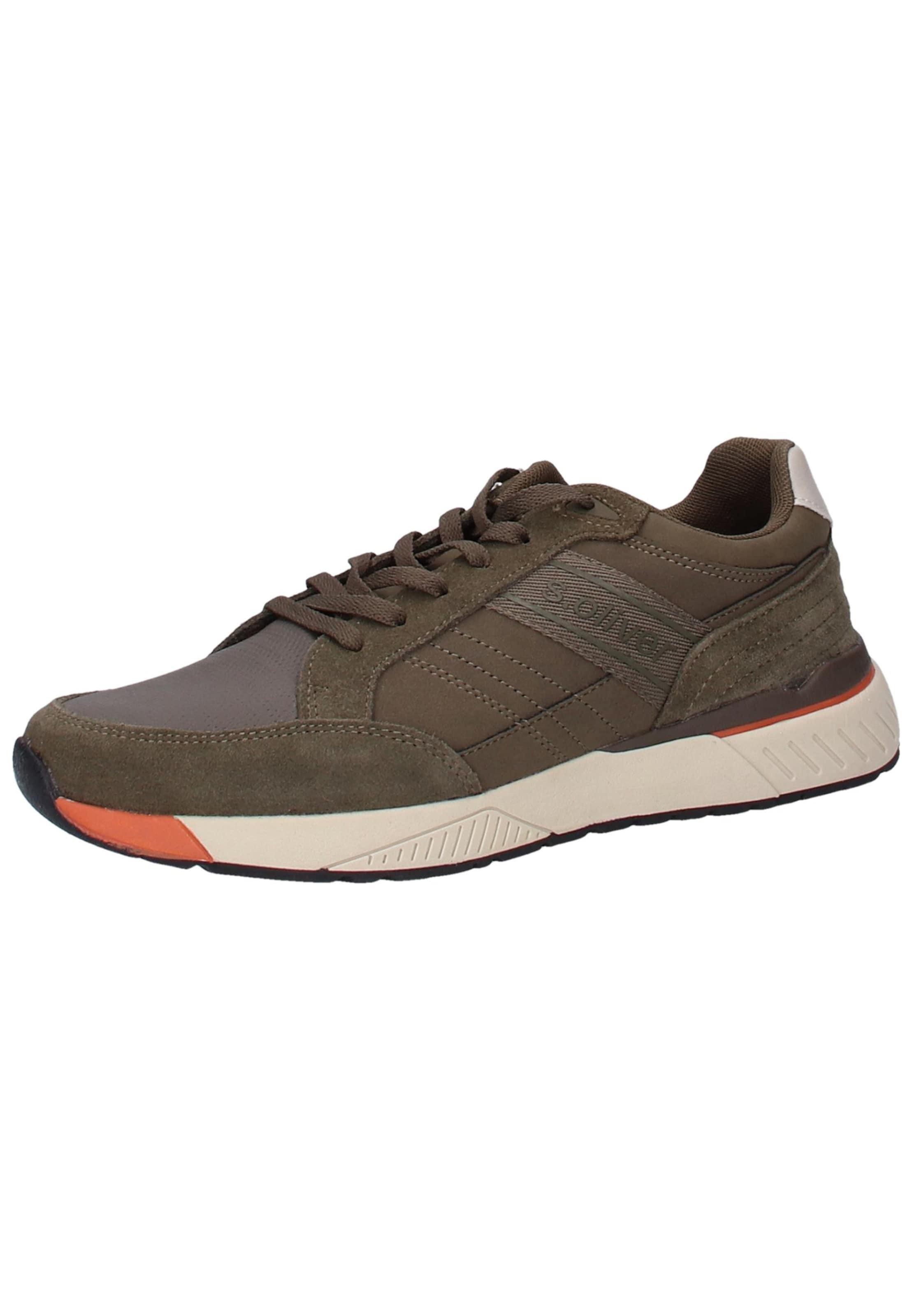 Sneaker Khaki S oliver Label Red In 0XOPN8wZnk