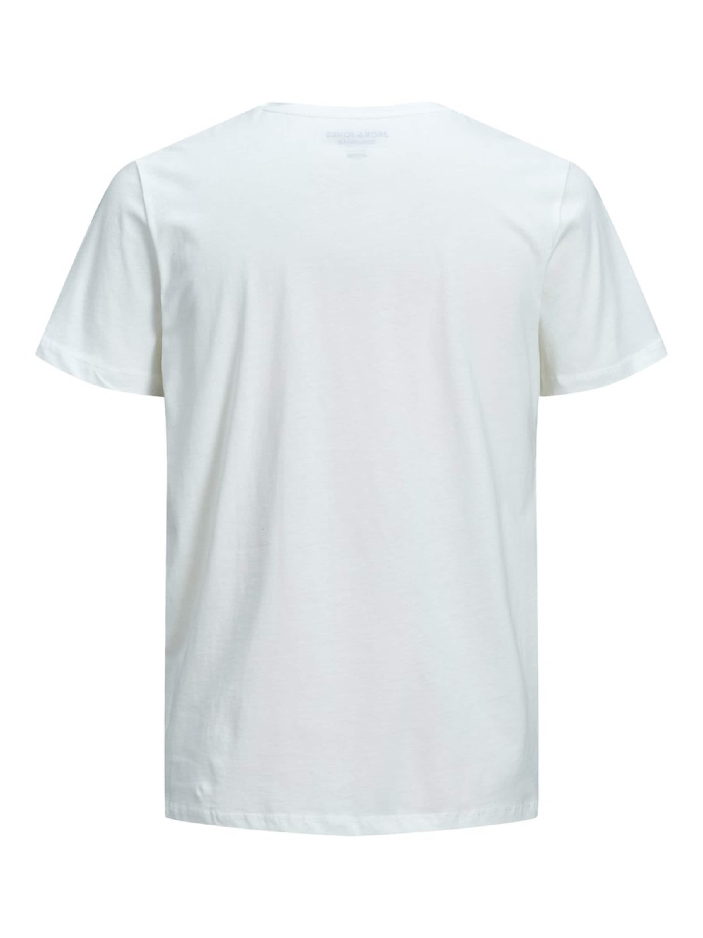 Jones Jackamp; Blanc shirt T En HD9E2I