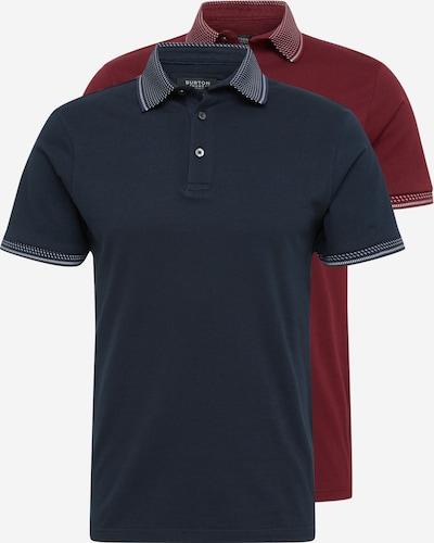 BURTON MENSWEAR LONDON T-Shirt in navy / burgunder / weiß, Produktansicht
