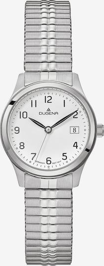 DUGENA Armbanduhr in silber / weiß, Produktansicht