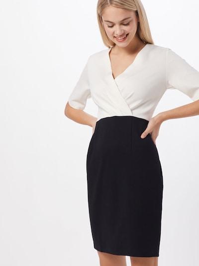 heine Sukienka etui w kolorze czarny / białym: Widok z przodu