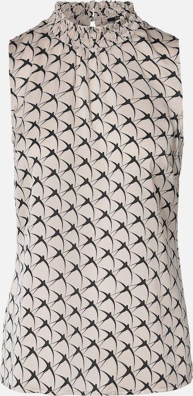 COMMA Ärmellose Bluse mit floralem Print
