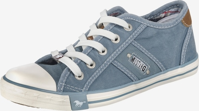 MUSTANG Sneaker in blue denim / weiß, Produktansicht