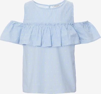 REVIEW FOR TEENS Kurzarmbluse in blau / weiß, Produktansicht