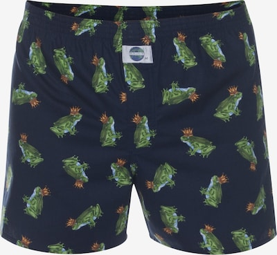D.E.A.L International Boxershorts 'Frog King' in de kleur Nachtblauw / Groen, Productweergave