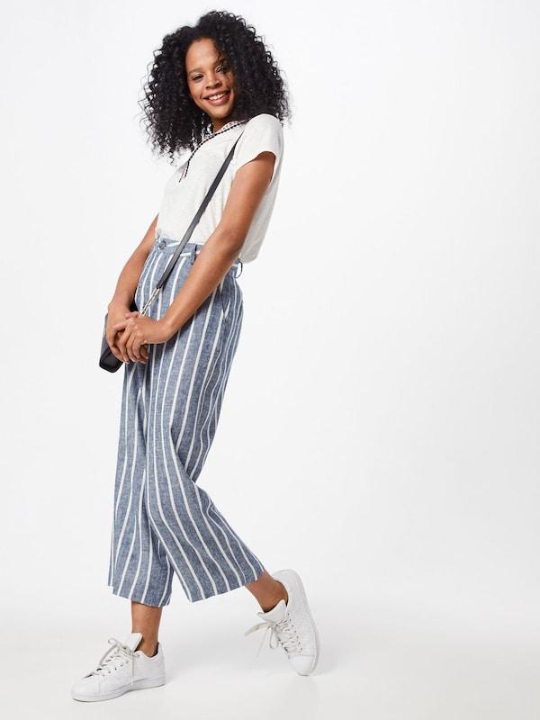 Linen Stripes' En Herrlicher 'starlight Bleu Pantalon kOPZuXi