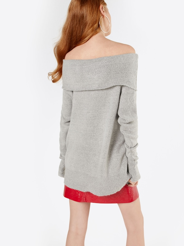NA-KD Off Shoulder Sweater 'FOLDED WIDE'