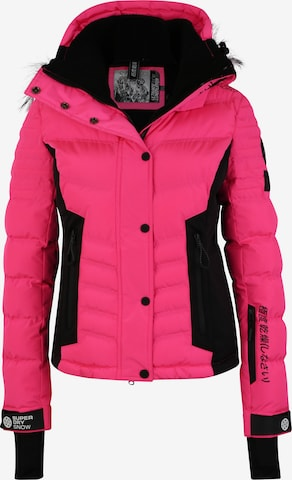Superdry Snow Jacke 'LUXE SNOW PUFFER' in Pink