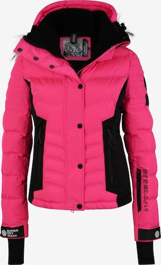 Superdry Snow Outdoorjas 'LUXE SNOW PUFFER' in de kleur Pink / Zwart, Productweergave