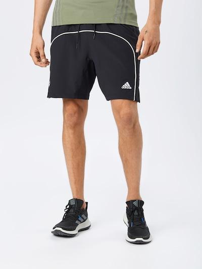 ADIDAS PERFORMANCE Športové nohavice 'HARDEN' - čierna / biela: Pohľad spredu
