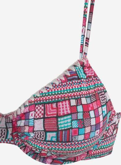 SUNSEEKER Bikini in türkis / pink / schwarz / weiß, Produktansicht