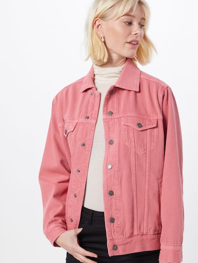 AMERICAN VINTAGE Jeansjacke 'TINEBOROW' in pink, Modelansicht