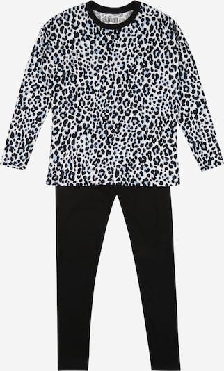 SANETTA Schlafanzug in hellbraun / schwarz / weiß, Produktansicht