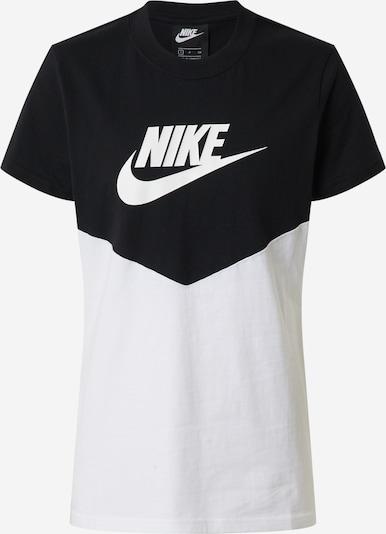 Marškinėliai 'W NSW HRTG TOP SS' iš Nike Sportswear , spalva - juoda / balta, Prekių apžvalga