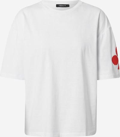 Tricou Trendyol pe roșu / alb: Privire frontală