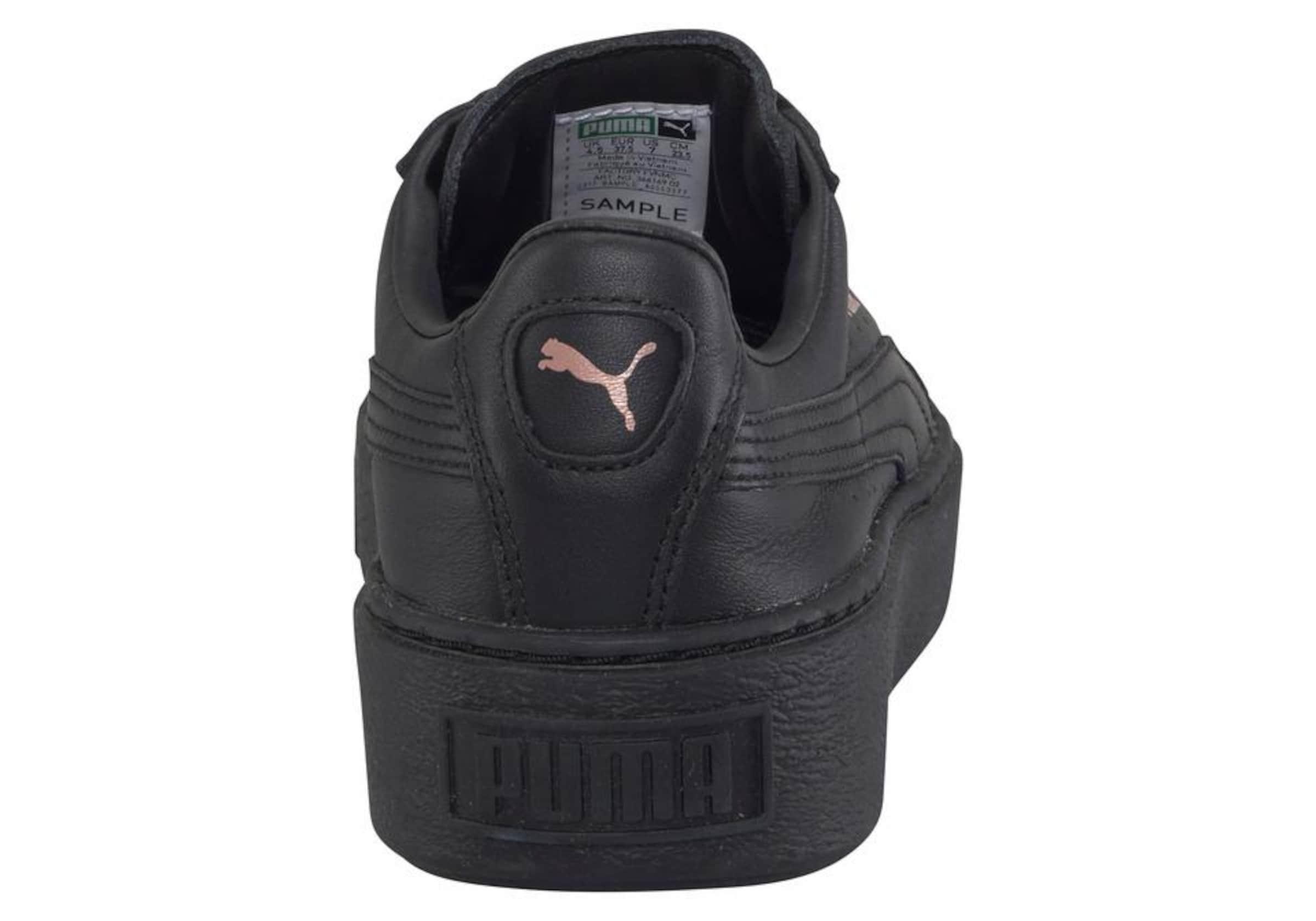 RosegoldSchwarz Puma In Metallic' Sneaker 'basket Platform clFK1J