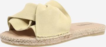 espadrij l´originale Pantoletter 'Plage Boucle Velour' i gul
