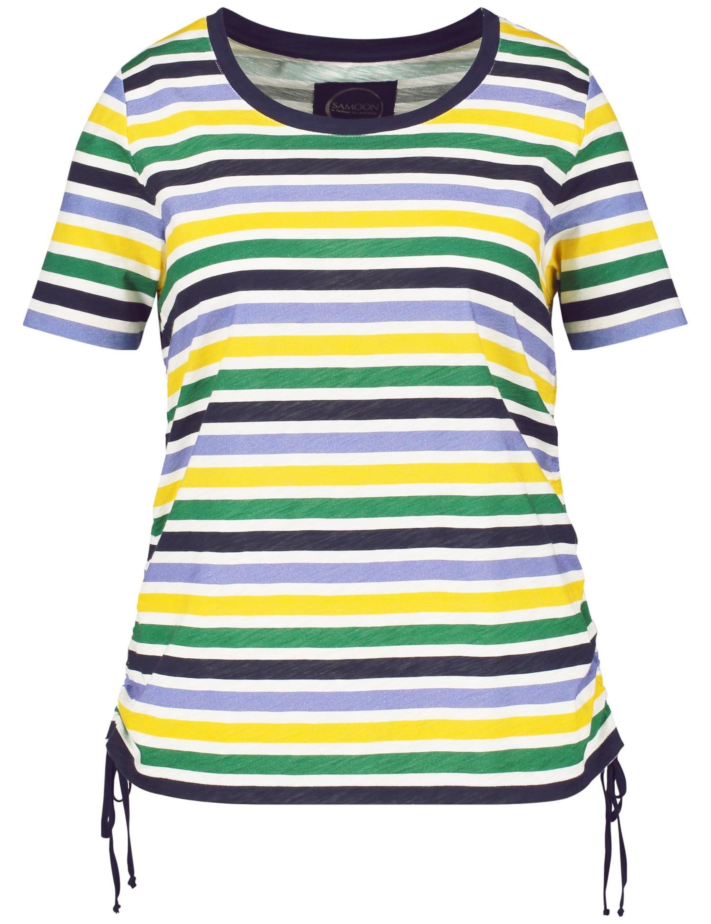 NavyGelb shirt T Dunkelgrün In Samoon Naturweiß oBdCxe