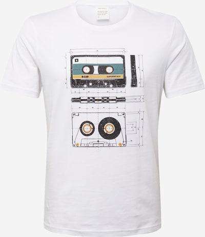ARMEDANGELS T-Shirt 'Jaames Cassettes' in gelb / schwarz / weiß, Produktansicht