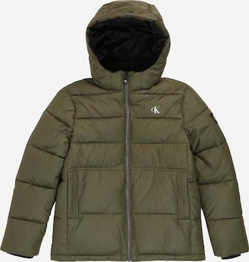Calvin Klein Jeans Talvejope 'Essential', värv roheline