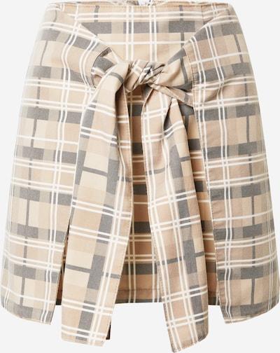 NU-IN Spódnica 'Tie Front' w kolorze beżowy / brązowy / jasnobrązowym: Widok z przodu