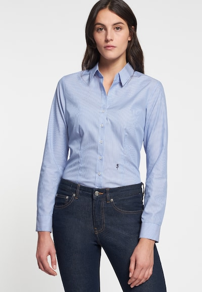 SEIDENSTICKER Blouse 'Schwarze Rose' in de kleur Smoky blue, Modelweergave
