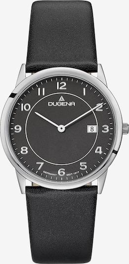 DUGENA Armbanduhr in schwarz / silber, Produktansicht