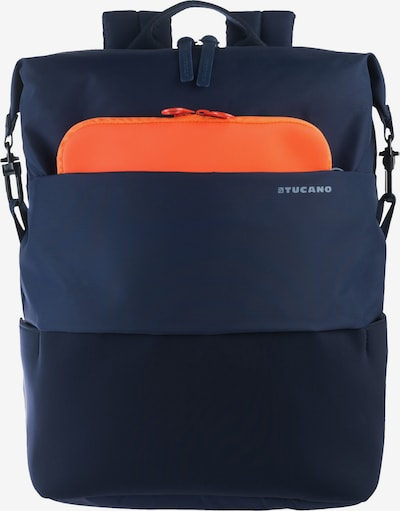 TUCANO Tagesrucksack 'business backpack' in blau / dunkelblau / orange, Produktansicht