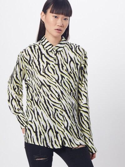 Someday Bluse 'Zita' in gelb / schwarz / weiß, Modelansicht