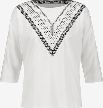 TAIFUN Shirt in de kleur Zwart / Offwhite, Productweergave