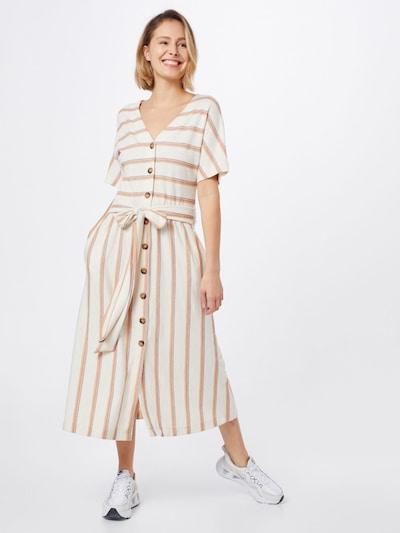 ESPRIT Kleid in beige / weiß, Modelansicht