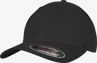 Flexfit Hydro-Grid Stretch Cap in schwarz: Frontalansicht