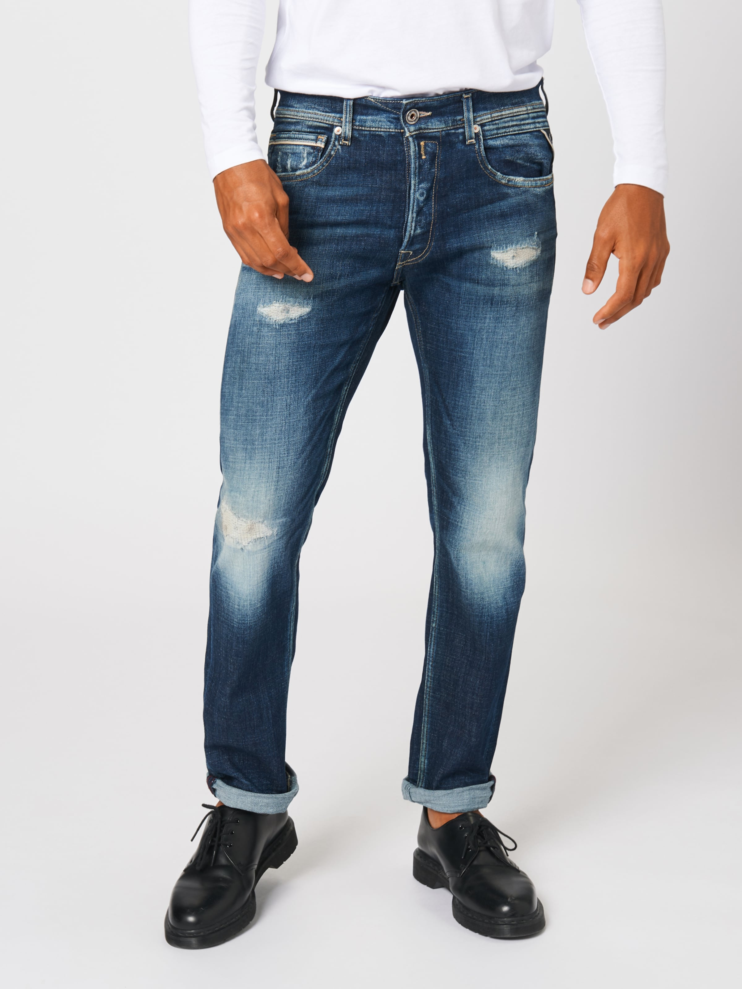 'grover' Jeans Blue Denim Replay In W2EDeH9IYb