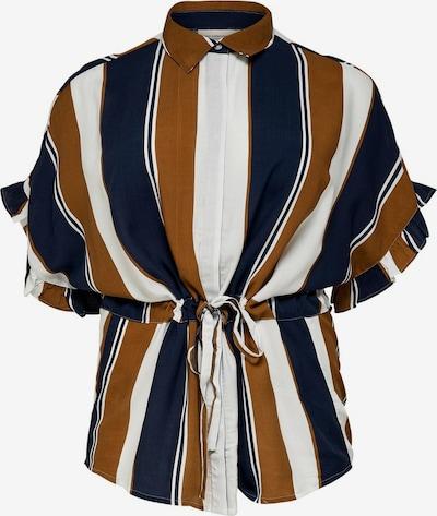 ONLY Carmakoma Hemd in nachtblau / karamell / weiß, Produktansicht