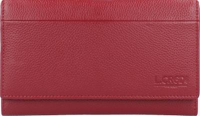 L.CREDI Portemonnee 'Chrissi' in de kleur Rood: Vooraanzicht