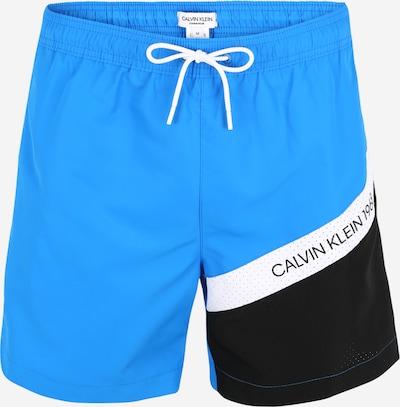 Calvin Klein Badeshorts in blau / schwarz / weiß, Produktansicht