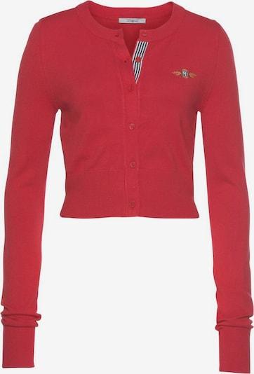 Tom Tailor Polo Team Cardigan in blau / senf / rot / weiß, Produktansicht