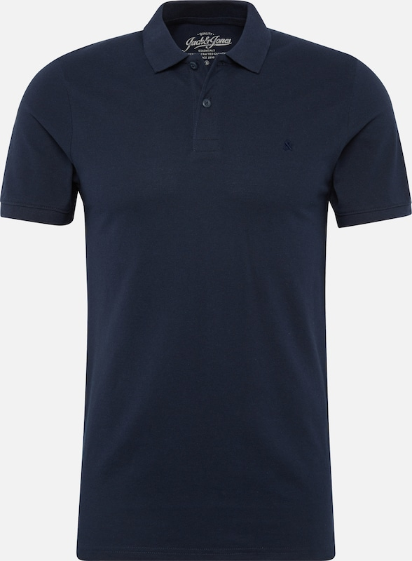 JACK & JONES Poloshirt 'JJEBASIC POLO SS' in navy, Produktansicht