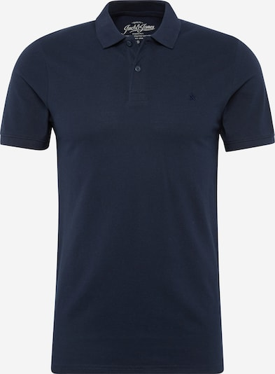 JACK & JONES Shirt 'JJEBASIC POLO SS' in de kleur Navy, Productweergave