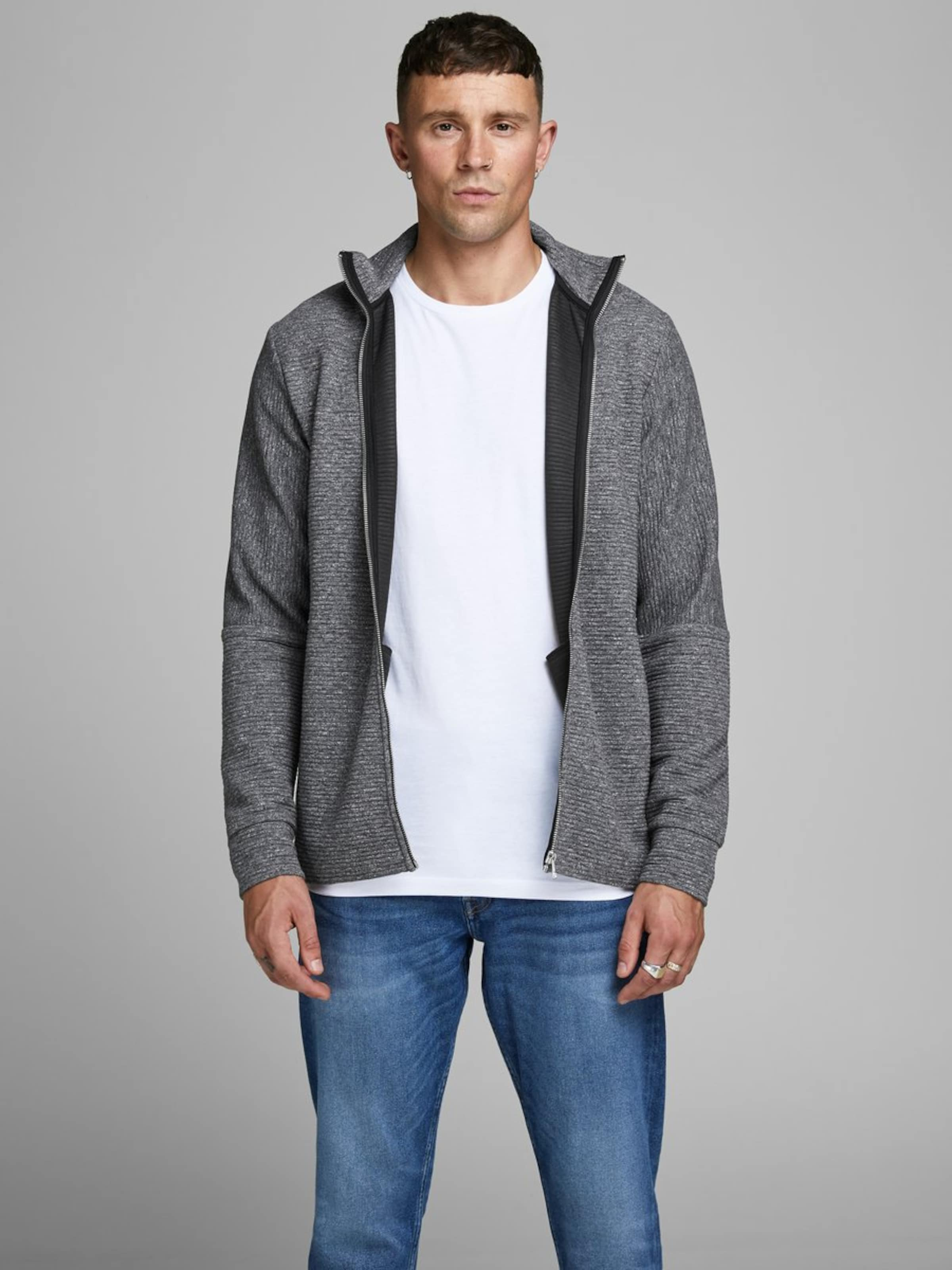 Jones Sweatjacke Graumeliert Jackamp; In CoWBredx