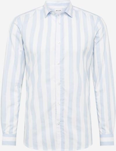 Only & Sons Chemise en bleu clair / blanc: Vue de face