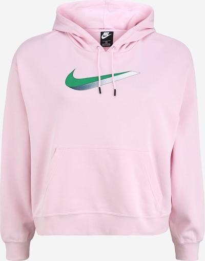 Nike Sportswear Mikina - zelená / svetloružová: Pohľad spredu