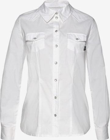 ARIZONA Hemdbluse in Weiß
