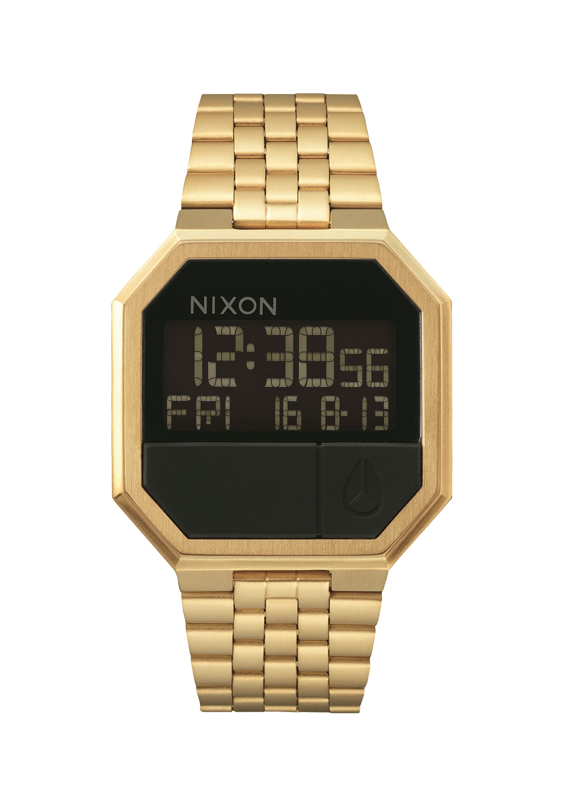 Nixon Horloge Digitaal 're run' GoudZwart In lKTF1J3uc