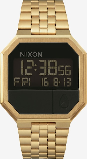 Nixon Armbanduhr 'Re-Run' in gold / schwarz, Produktansicht