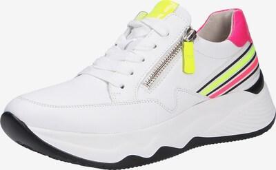 GABOR Sneaker in neongelb / neonpink / weiß, Produktansicht