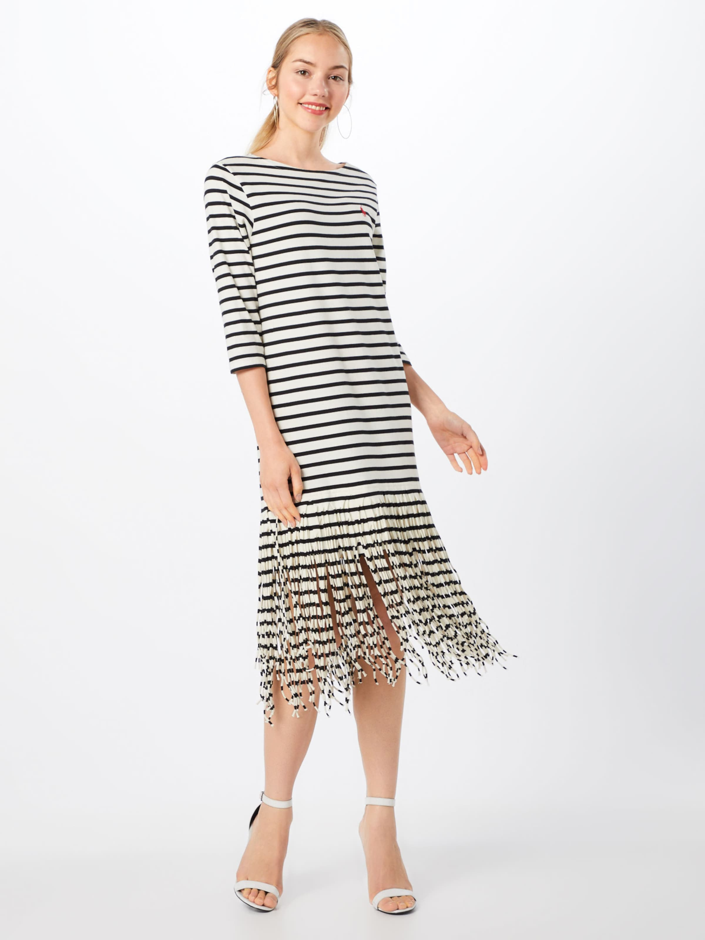 4 In Sleeve Polo Dress' Weiß Lauren 3 Ralph Kleider Dress casual 'fringe pUzqVGLSM